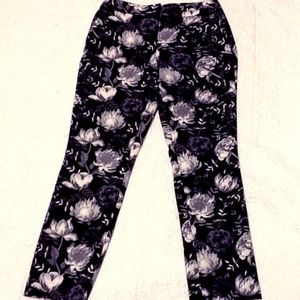 NWOT Cynthia Rowley Floral Ankle Pants